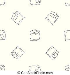 icona, borsa, stile, frumento, contorno