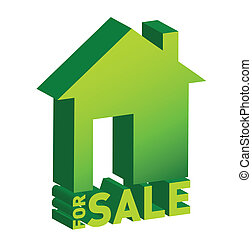 icona, casa, vendita