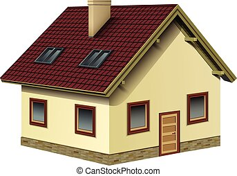 Piccolo cottage icona cartone animato icona stile for Piani casa bungalow piccolo artigiano