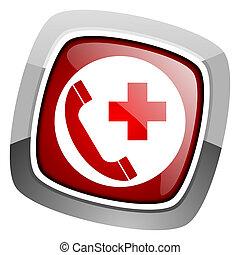 icona, chiamata, emergenza