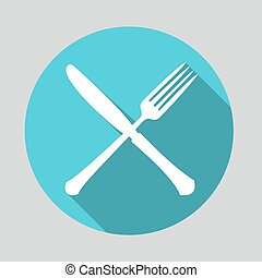 icona, coltello, forchetta