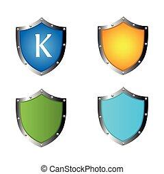 icona, concetto, scudo, protezione