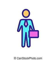 icona, contorno, ditta, illustrazione, simbolo, isolato, direttore, vector.