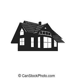icona, di, house., vettore, illustrazione