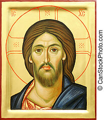 icona, di, signore, gesù cristo