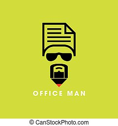 icona, disegno, affari, element.