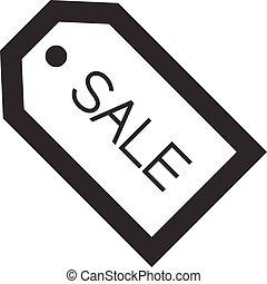 icona, etichetta, contorno, -, vendita