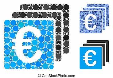 icona, euro, articoli, composizione, spheric, finanze