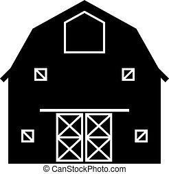 icona, fattoria, granaio