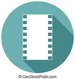 icona, film, con, uno, lungo, uggia