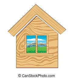 icona, fondo, casa, bianco