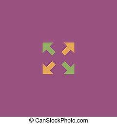 icona, frecce, indicazione, quattro