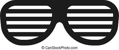 icona, fresco, occhiali