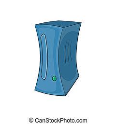 icona, gioco, computer, stile, cartone animato
