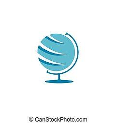 icona, globo, astratto, vettore, logotipo