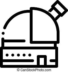 icona, illustrazione, telescopio, osservatorio, contorno