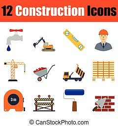 icona, insieme costruzione