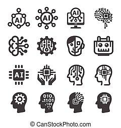 icona, intelligenza artificiale