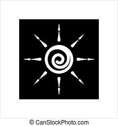 icona, intensità, regolazione, luminosità