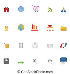 icona internet, set