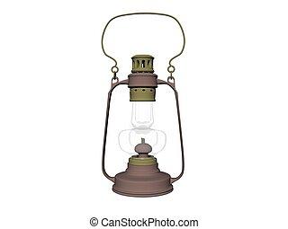 icona, -, isolato, interpretazione, fondo, bianco, lanterna, 3d