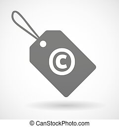 icona, isolato, segno, copyright, etichetta, prodotto