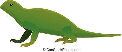 icona, lucertola, iguana, stile, cartone animato