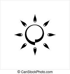 icona, luminosità, regolazione, intensità