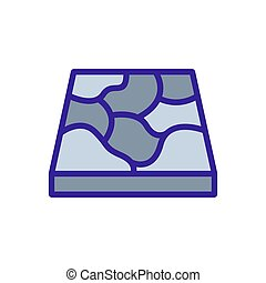 icona, marmo, disegno, contorno, vettore, pavimento, illustrazione