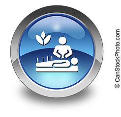 icona, medicina, alternativa, bottone, pictogram