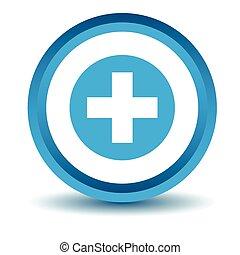 icona, medico, blu, 3d