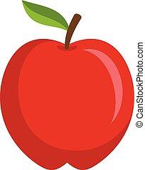 icona, mela, rosso, stile, appartamento