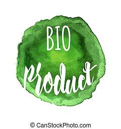 icona, naturale, vettore, organico, etichetta