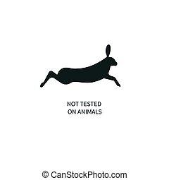 icona, non, esaminato, su, animali