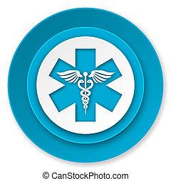 icona, ospedale, emergenza, segno