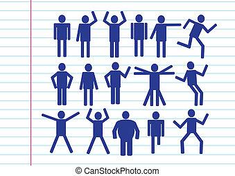 icona, persone, famiglia, pictogram