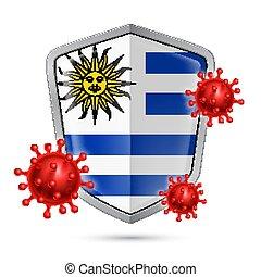 icona, scudo, uruguay