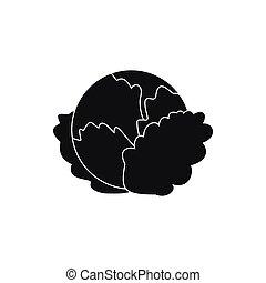 icona, semplice, cavolo, stile
