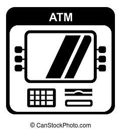 icona, semplice, computer, style.