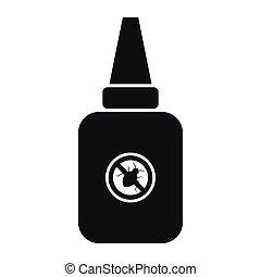 icona, semplice, insetto, stile, spruzzo