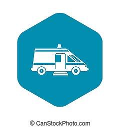 icona, semplice, stile, ambulanza