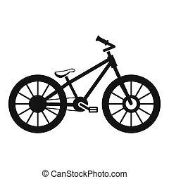 icona, semplice, stile, bicicletta