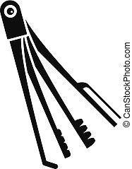 icona, semplice, stile, chiave scheletro