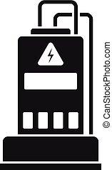 icona, semplice, stile, generatore potere