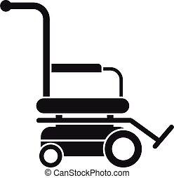 icona, semplice, stile, motore, carrozzella
