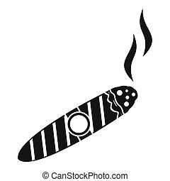 icona, semplice, stile, sigaro