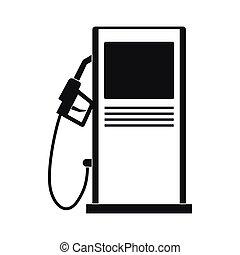 icona, semplice, stile, stazione, gas