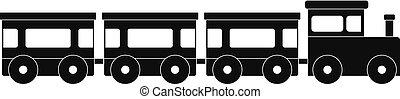 icona, semplice, treno espresso, style.