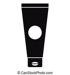 icona, semplice, tubo, stile, crema