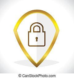 icona, serratura, disegno